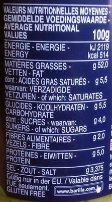 Sauce Pesto Genovese - Informations nutritionnelles - fr