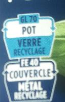 Barilla sauce pesto alla genovese basilic frais - Istruzioni per il riciclaggio e/o informazioni sull'imballaggio - fr