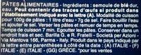 Pâtes Maccheroni - Ingredients - fr