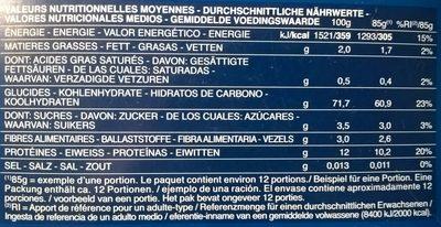 Pâtes Maccheroni - Nutrition facts - fr