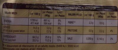 Crostatine Albicocca 400 GR - Voedingswaarden - it