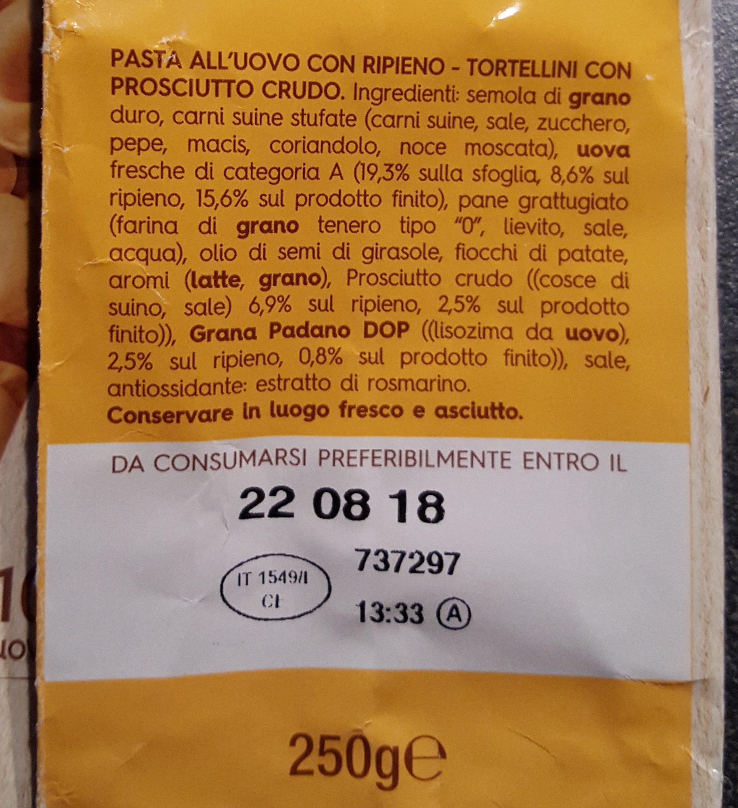 Tortellini - Ingrédients