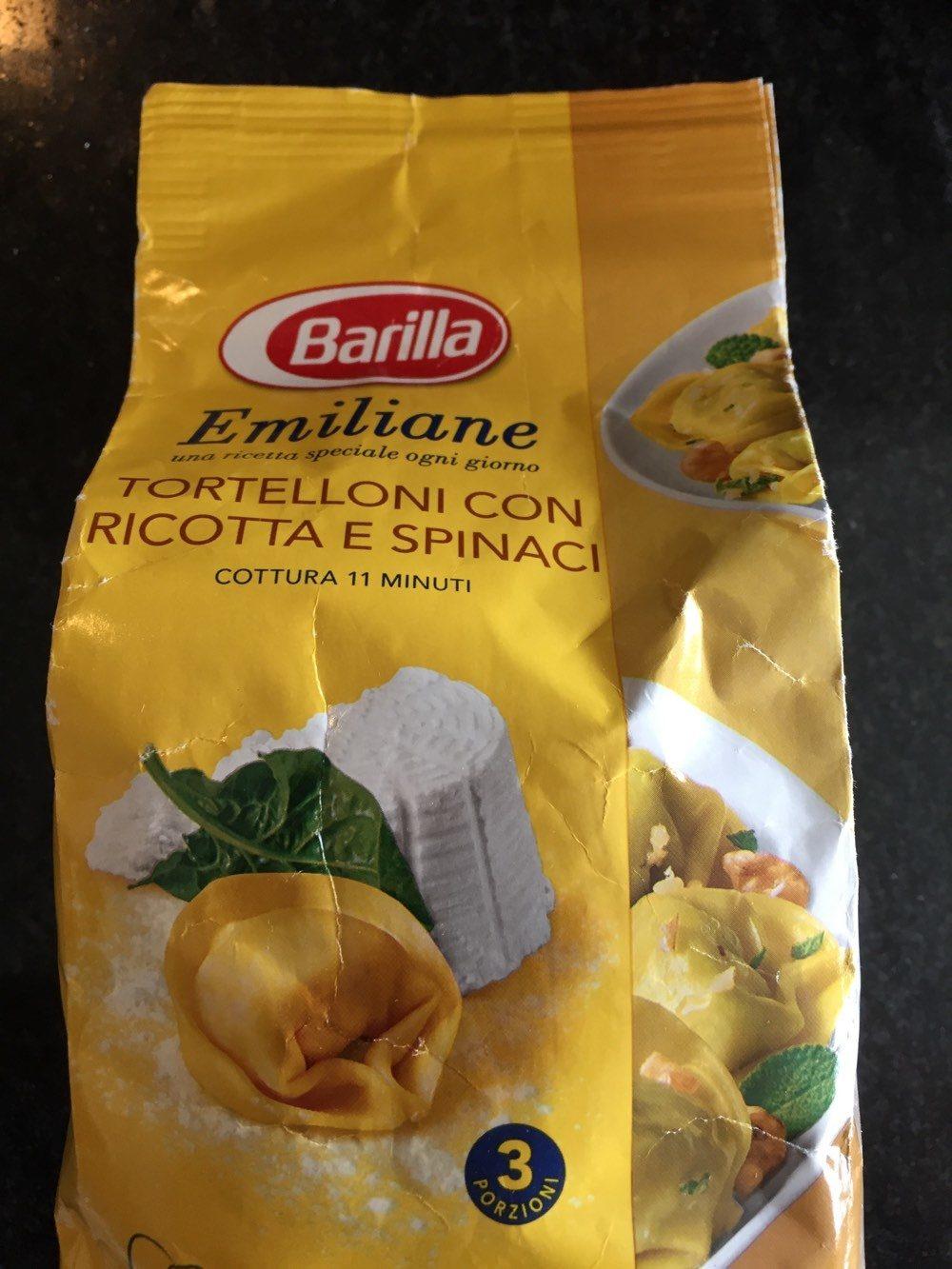 Emiliane - Tortelloni con Ricotta e Spinachi - Prodotto