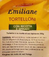 Emiliane - Tortelloni con Ricotta e Spinachi - Ingredienti