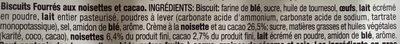 Baiocchi - Ingredients - fr