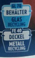 Pesto Alla Calabrese - Instruction de recyclage et/ou informations d'emballage - de
