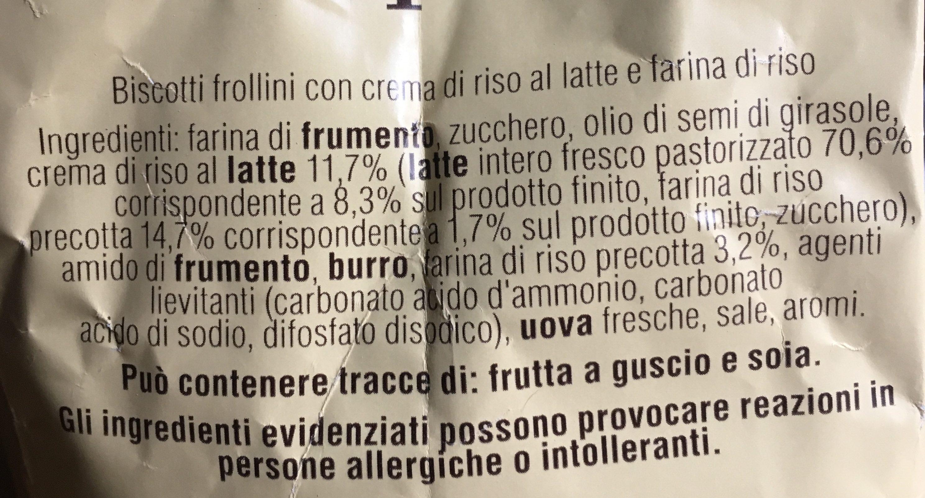 Mulino Bianco Campagnole - Ingrediënten