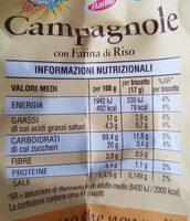 Mulino Bianco Campagnole - Informazioni nutrizionali - it