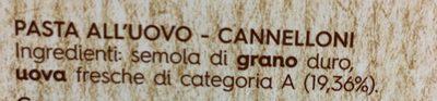 Emiliane CANNELLONI - Ingredienti
