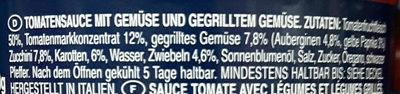 Sauce courgette et légumes grillés - Zutaten - de