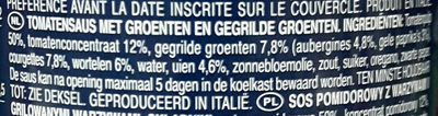 Sauce courgette et légumes grillés - Ingrediënten - nl