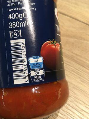 Sauce courgette et légumes grillés - Wiederverwertungsanweisungen und/oder Verpackungsinformationen - fr