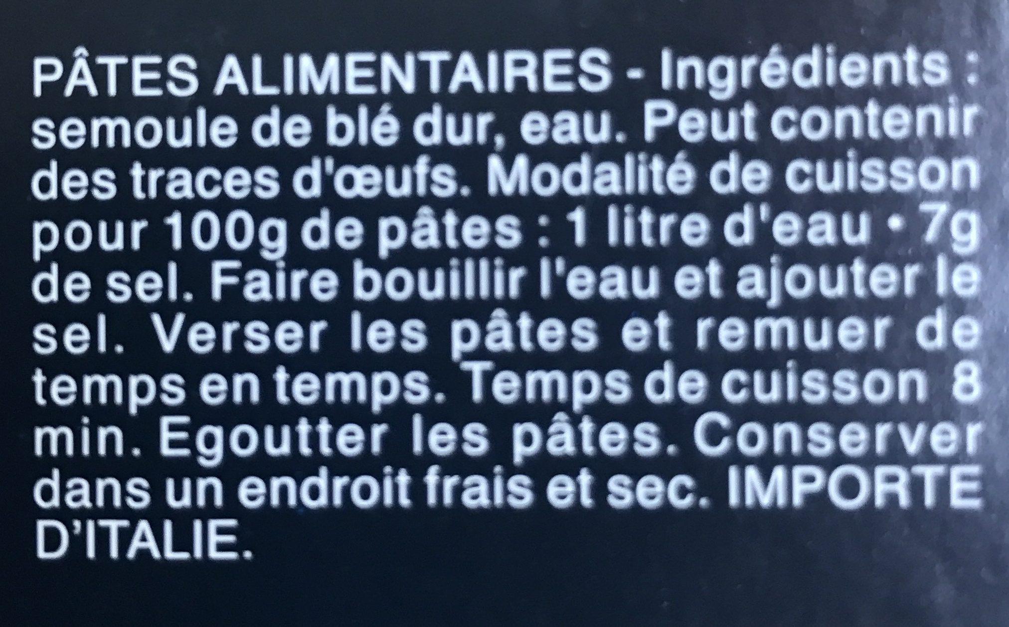 Pâtes Linguine - Ingrédients - fr