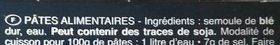 Pâtes Linguine - Ingredients - fr