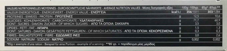 Pâtes Linguine - Nutrition facts - fr