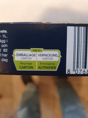 Barilla pates collezione linguine - Recycling instructions and/or packaging information - fr