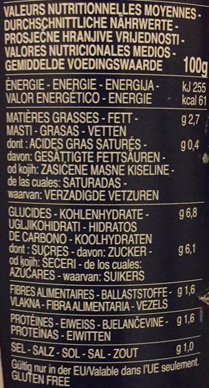 Sauce tomate basilic - Valori nutrizionali - fr