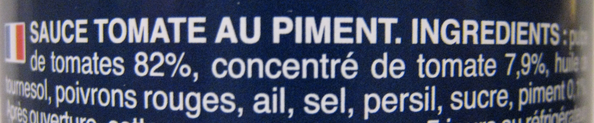 Sauce arrabbiata - Ingredients - fr