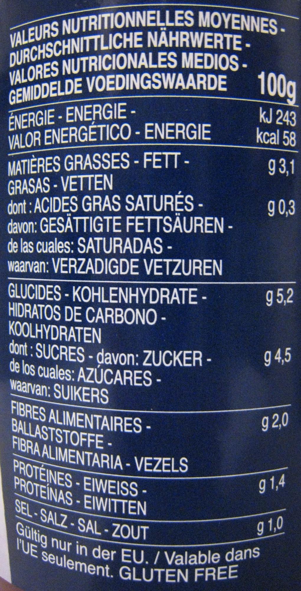 Sauce arrabbiata - Valori nutrizionali - fr