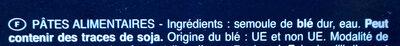 Barilla pates collezione tagliatelles - Zutaten - fr