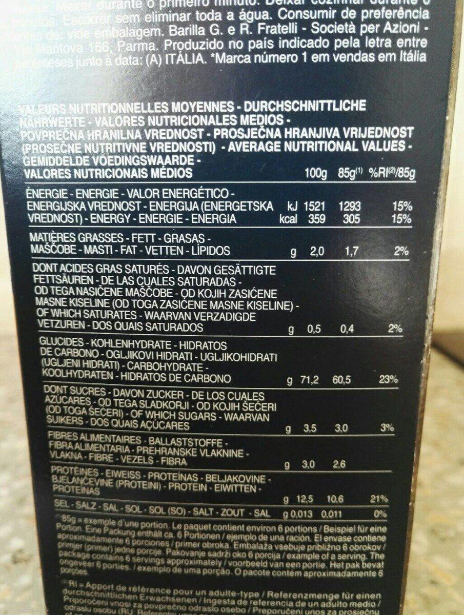 Barilla pates collezione tagliatelles - Valori nutrizionali - fr