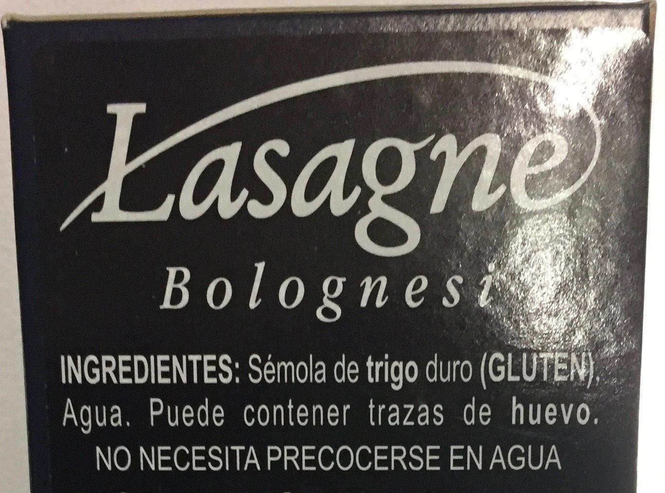 Collezione Lasagne Bolognesi - Ingredienti - es