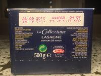 Collezione Lasagne Bolognesi - Instrucciones de reciclaje y/o información de embalaje - es