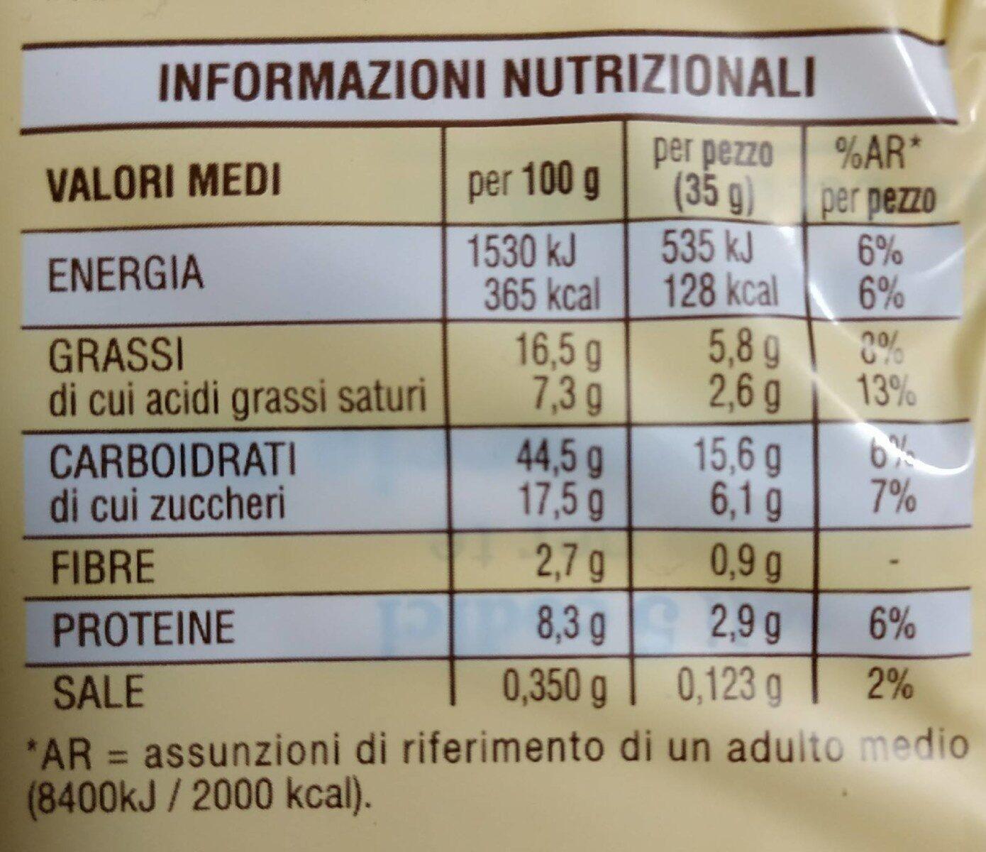 Flauti al Latte - Informazioni nutrizionali - it