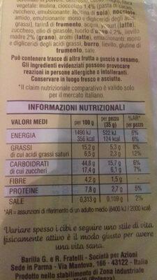 Flauti Cioccolato - Informazioni nutrizionali - it