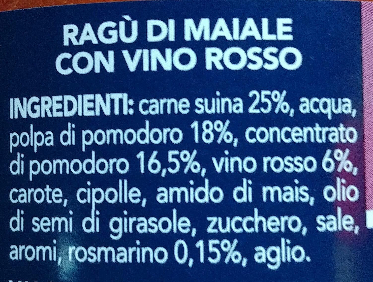 Ragù contadino - Ingrédients - it