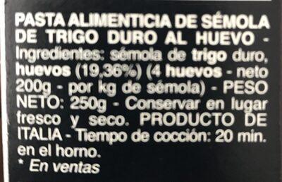 Lasagne Sheets - Ingredients - fr