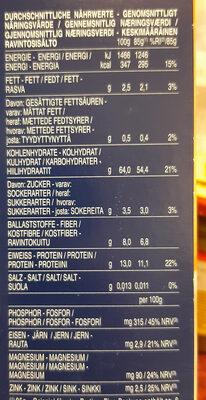 Pâtes Penne Rigate au blé complet - Nährwertangaben - de