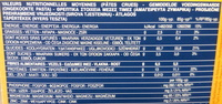 Pâtes Penne Rigate au blé complet - Informations nutritionnelles - fr