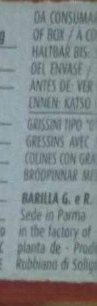 Gressins Friabili Classiques - Ingrédients - fr