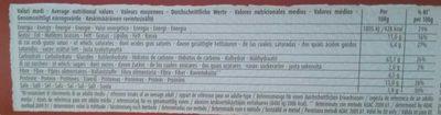 Gressins Friabili Classiques - Informations nutritionnelles - fr
