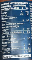 Sauce tomate à la ricotta - Valori nutrizionali - fr