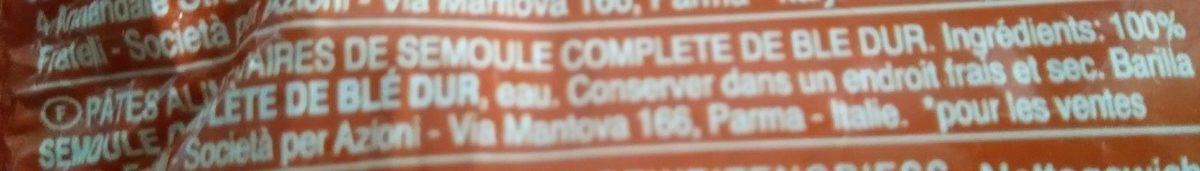 Spaghetti n5 intégrale - Ingredients - fr