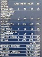 Coquillettes au blé complet - Voedingswaarden - fr