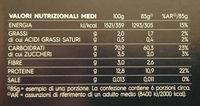reginette - Informations nutritionnelles