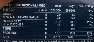 Barilla Specialita'reginette Napol. gr500 - Voedingswaarden - it