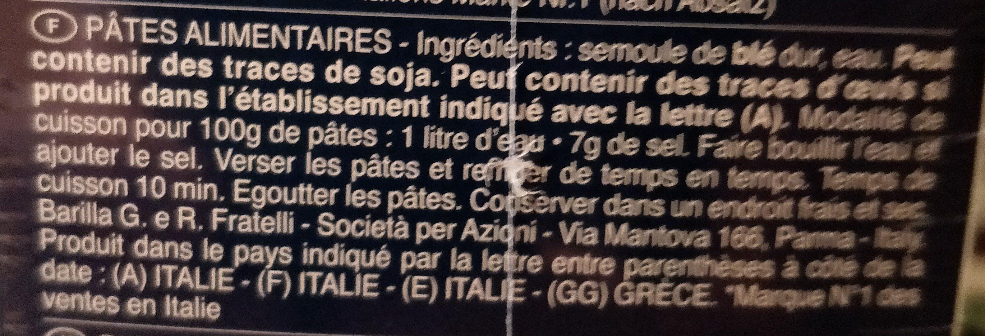 Lot pâtes Pipe Rigate x3 - Ingrédients - fr