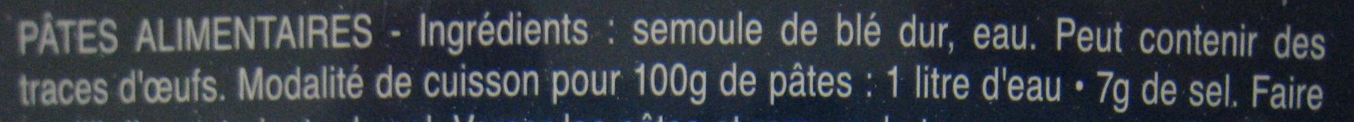 Lot pâtes Capellini x3 - Ingrédients - fr