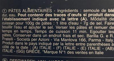 Pates barilla penne rigate lot de 500g x3 - Ingredienti - fr