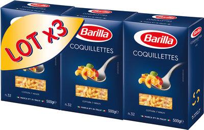 Lot pâtes Coquillettes x3 - Produit - fr
