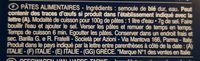 Lot pâtes Torsades x3 - Ingrédients - fr