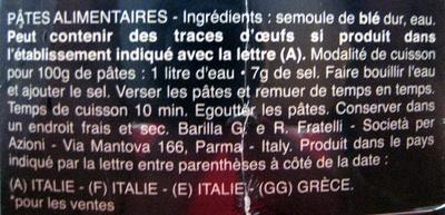 Farfalle n. 65 (Lot x 3) - Ingrédients - fr