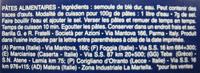 Cellentani n. 297 - Ingredients - fr