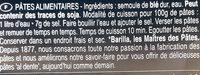 Pâtes Trofie - Ingrédients - fr