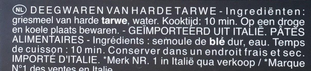 Pâtes Trofie - Ingrediënten - nl