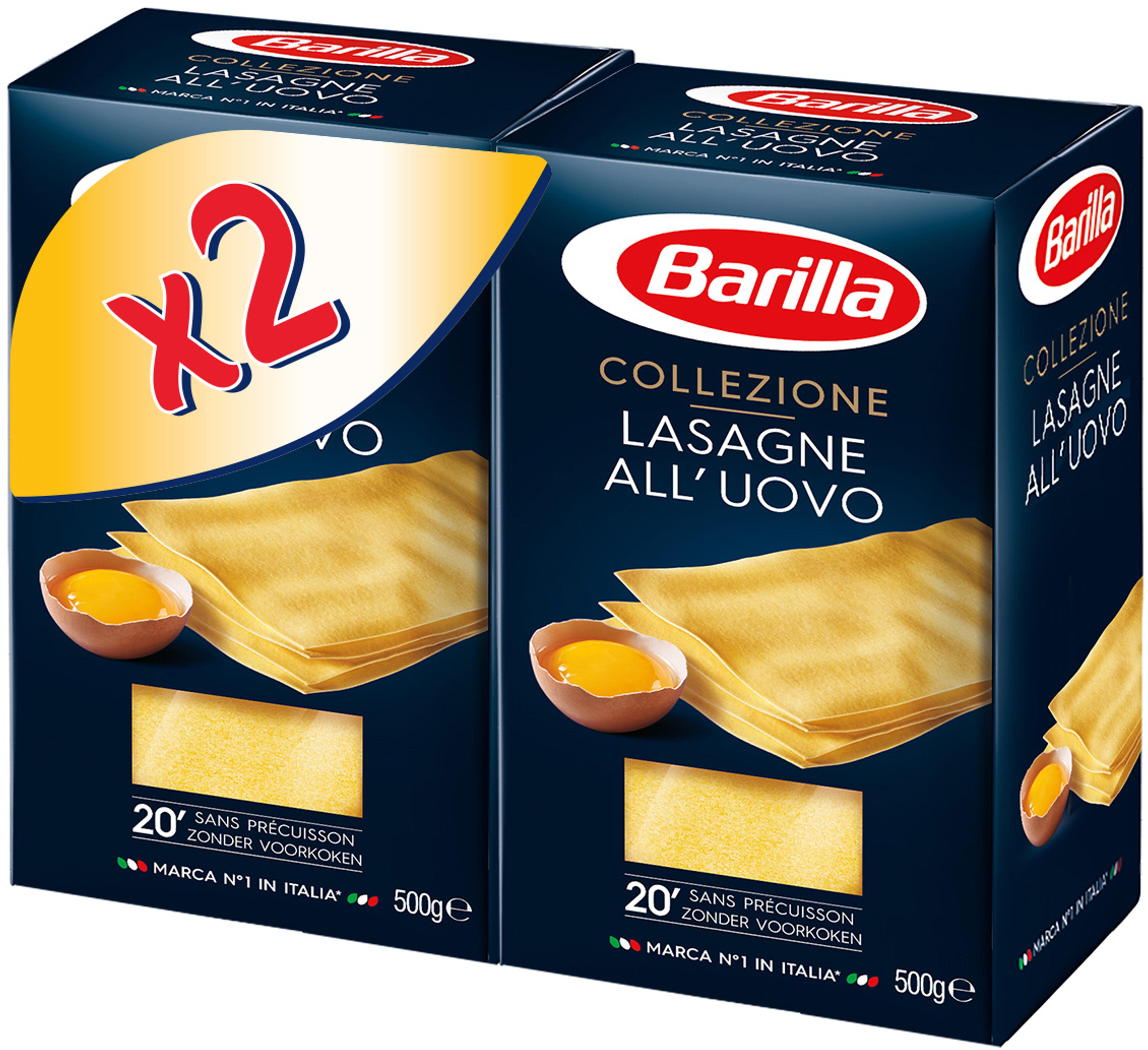 Lot pâtes aux oeufs Lasagne x2 - Prodotto - fr